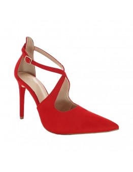 Ψηλοτάκουνες Κόκκινες Γόβες Suede
