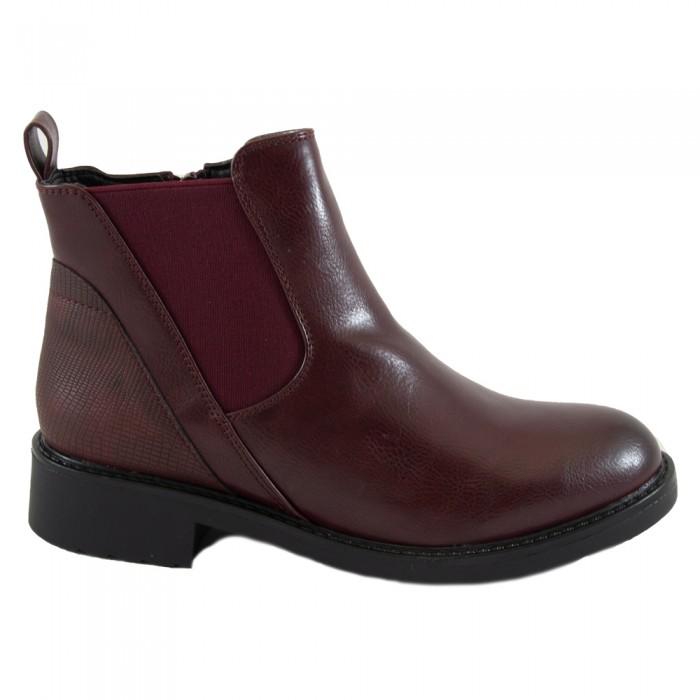 Ankle Boots Μπορντώ Γυναικεία