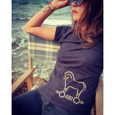 T-Shirt Trojan Horse Μαύρο