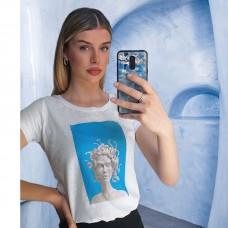 T-Shirt Medusa Λευκό