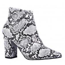 Ankle Boots Λευκό Animal Print