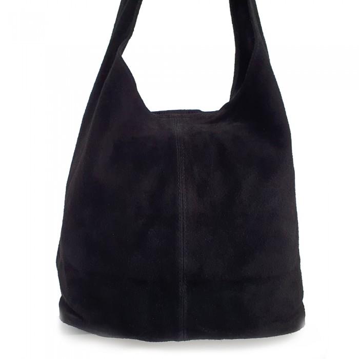 Δερμάτινη Τσάντα Ώμου Suede  Τσάντες