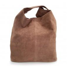 Δερμάτινη Τσάντα Ώμου Suede Πούρο