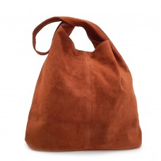 Δερμάτινη Τσάντα Ώμου Suede Ταμπά