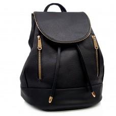 Backpack Μαύρο Με Διακοσμητικά Φερμουάρ