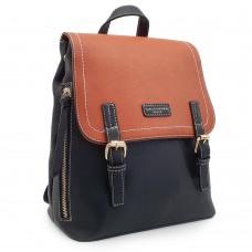 Backpack David Jones Μαύρο-Ταμπά