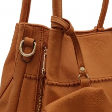 Τσάντα Ώμου Με Διακοσμητικές Ραφές Ταμπά