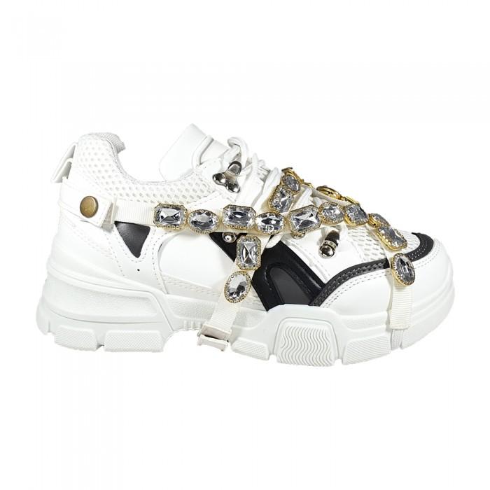 Diamond Sneakers Λευκά Γυναικεία