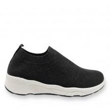 Γυναικεία Sneaker ελαστικά τύπου κάλτσα Μαύρα