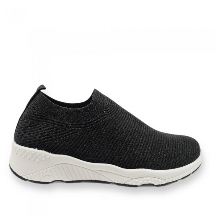 Γυναικεία Sneaker ελαστικά τύπου κάλτσα Μαύρα Γυναικεία