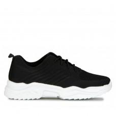 Sock Sneaker Μαύρα με Κορδόνια