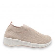 Γυναικεία Sneaker ελαστικά τύπου κάλτσα Rose Gold