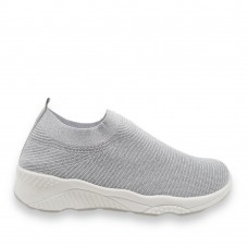 Γυναικεία Sneaker ελαστικά τύπου κάλτσα Silver