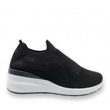 Sneaker ελαστικά τύπου κάλτσα Μαύρα