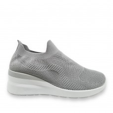 Sneaker ελαστικά τύπου κάλτσα Grey