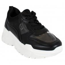 Sneakers Μαύρα Διαφάνια
