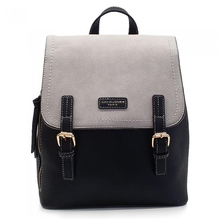 Backpack David Jones Μαύρο-Κρεμ