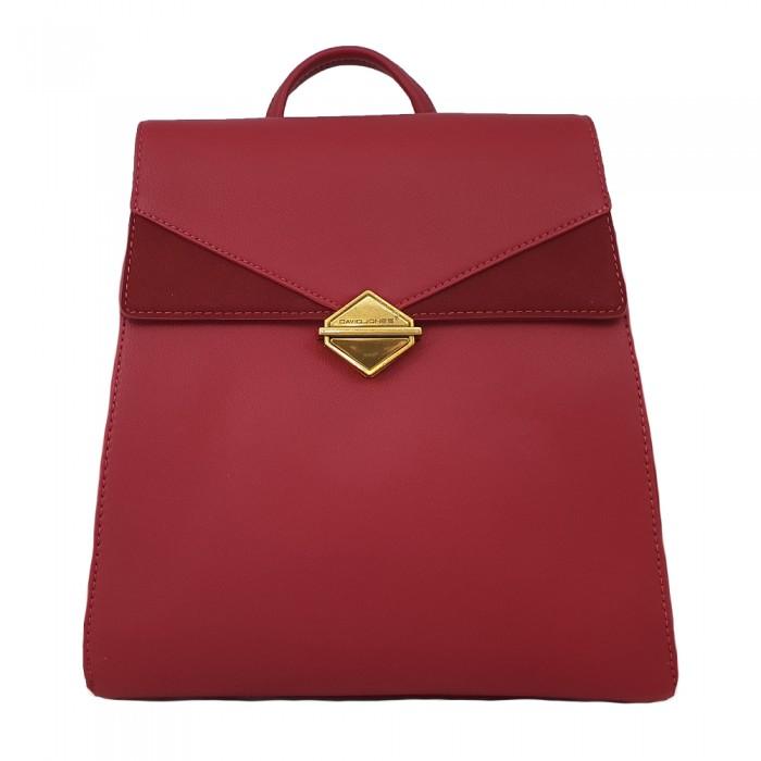 Backpack David Jones Κόκκινο Γυναικεία