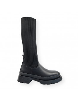 Μπότα Μαύρη Με Κάλτσα