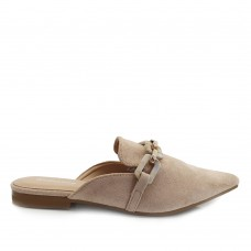 Loafers Mules Suede Μπεζ