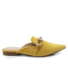 Loafers Mules Suede Κίτρινα