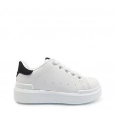 Παιδικά Αθλητικά Παπούτσια Λευκά Με Μαύρη Λεπτομέρεια