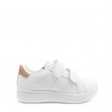 Παιδικά Αθλητικά Παπούτσια Λευκά Με Ροζ Χρυσή Λεπτομέρεια