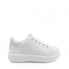 Παιδικά Αθλητικά Παπούτσια Λευκά Με Κροκό Λεπτομέρεια