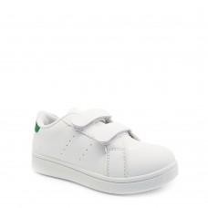 Παιδικά Αθλητικά Παπούτσια Λευκά Με Πράσινη Λεπτομέρεια