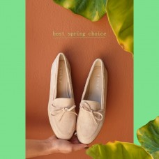 Loafers Suede Μπεζ
