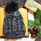 Σκουφάκι Πλεκτό Με Διακοσμητική Φούντα Μαύρο
