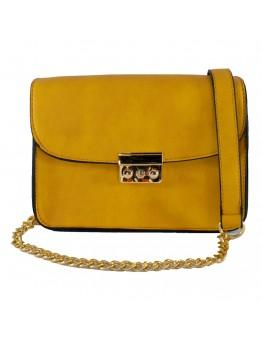 Τσάντα Χειρός Κίτρινη