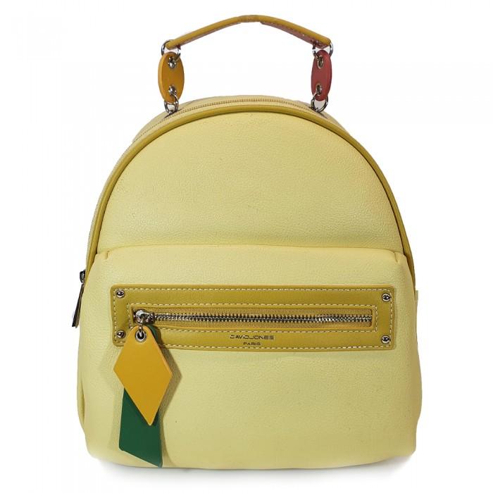Backpack David Jones Κίτρινο Γυναικεία