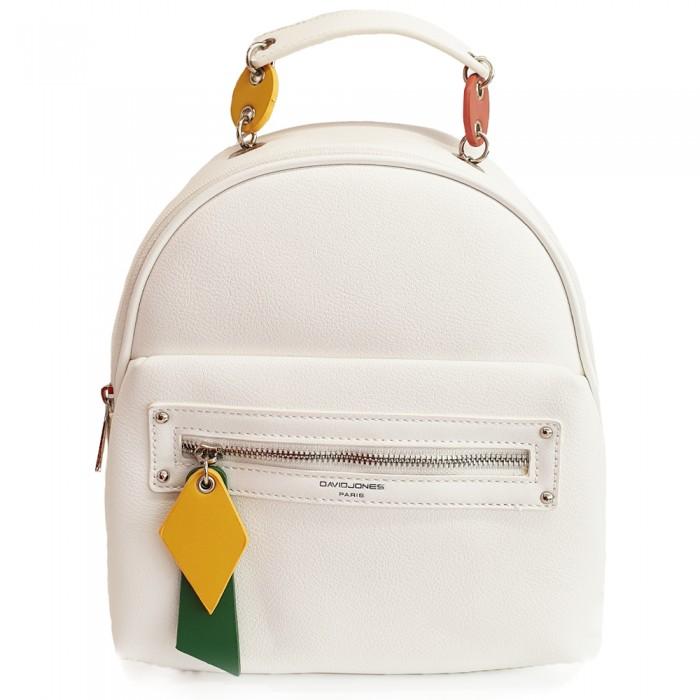 Backpack David Jones Casual Λευκό Γυναικεία
